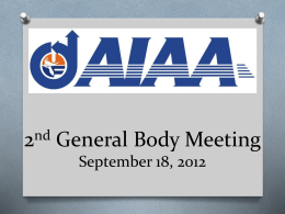 AIAA 2nd General Body Meeting 9-18-12