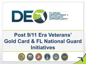 Gold Card & FL National Guard Initiatives
