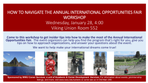 how to navigate the annual international opportunities fair workshop