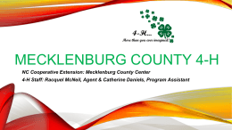 4-H Advisory Council – Informational Interest Meeting PowerPoint