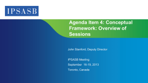 Agenda Item 4: Conceptual Framework: Overview of Sessions