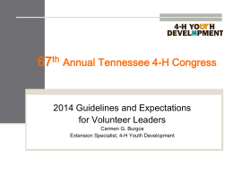 2009 4-H Congress - Tennessee 4-H