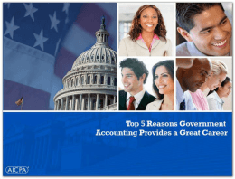 Top 5 Reasons Government Accounting Provides a Great