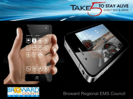 Take 5 To Stay Alive. Don`t Text and Drive