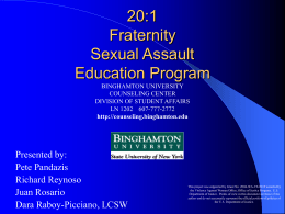 20:1 fraternity sexual assault eduacation program