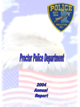 2004 Yearly Statistics - City of Proctor Minnesota