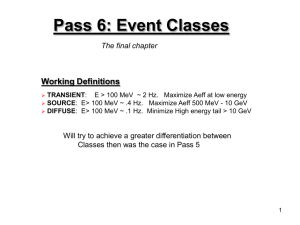 Pass 6: Event Classes