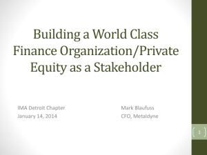 Building a World Class Finance Organization