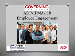 employee engagement in the public sector: presentation - IPMA-HR