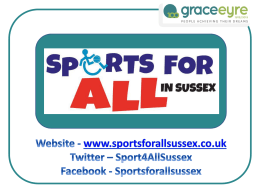 Sportsforallsussex - East Sussex County Council