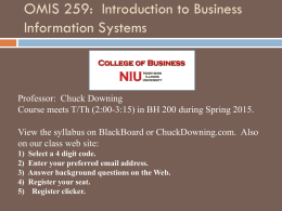 Intro - NIU - College of Business