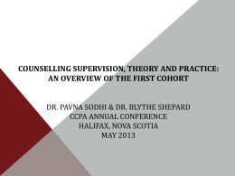 Counselling Supervision, Theory and Practice