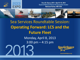 Operating Forward: LCS and the Future Fleet