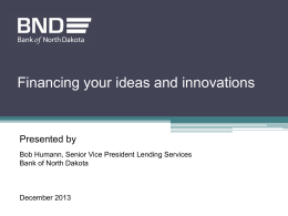Financing Your Ideas and Innovations