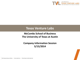 Texas Venture Labs - McCombs School of Business