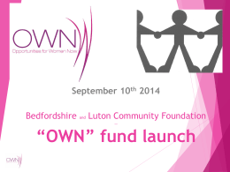 here - Bedfordshire & Luton Community Foundation