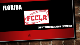 Florida FCCLA powerpoint