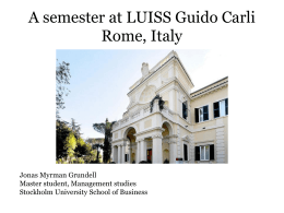 What I learnt at LUISS Guido Carli