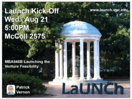 PPT - Launching the Venture