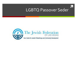 LGBTQ Passover Seder - Amazon Web Services
