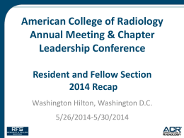 Resident and Fellow Section 2014 Recap