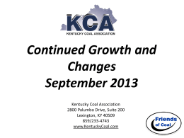 Slice of the Kentucky Coal Industry September 2013
