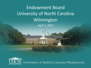 Title of Project - University of North Carolina Wilmington