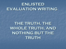 EVAL WRITING TIPS
