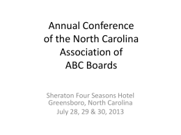 NC Spirits Association - North Carolina Association of ABC Boards