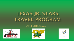 Texas Jr. STARS Travel Program