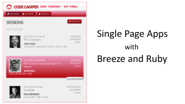 Breeze, Data, and the Single Page App
