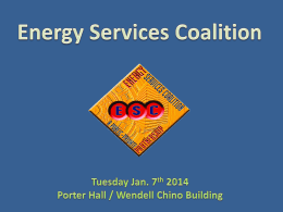 Energy Services Coalition - New Mexico