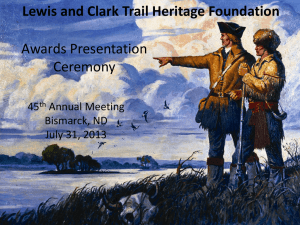Award PPT 2013 for web - Lewis and Clark Trail Heritage