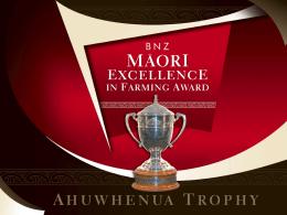 Ahuwhenua Trophy Winners Mataatua Rohe
