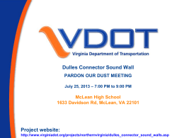 Present - Virginia Department of Transportation