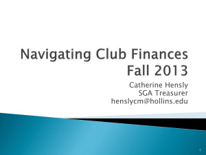 Navigating Club Finances