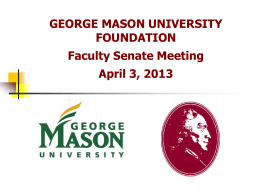 George Mason University Foundation, University Development and