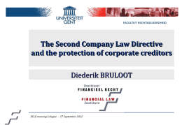 Presentation by Diederik Bruloot, Second Directive