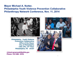 Philadelphia Youth Violence Prevention Collaborative