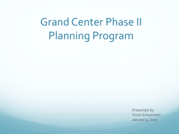 Grand Center, Inc. Presentation