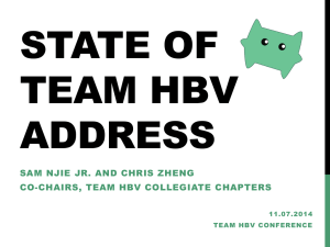 Team HBV Conference 2014 State of the Union