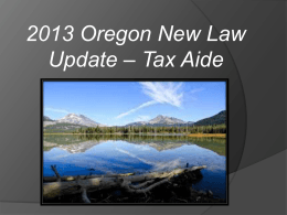 (07) 2013 Oregon new law update