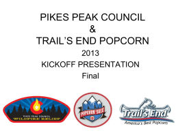 2013 One Sale - Pikes Peak Council