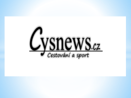 Cysnews.cz is travel and sport TravelLing • One