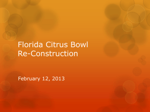 Florida Citrus Bowl Re-Construction