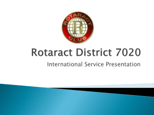 international service - Rotaract