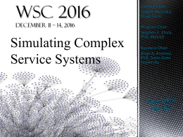 WSC 2016 Report - Winter Simulation Conference