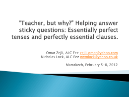 *Teacher, but why?* Helping answer sticky questions