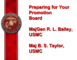 Standard Officer Promotion PME Brief - nnoa