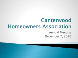 Canterwood Homeowners Association